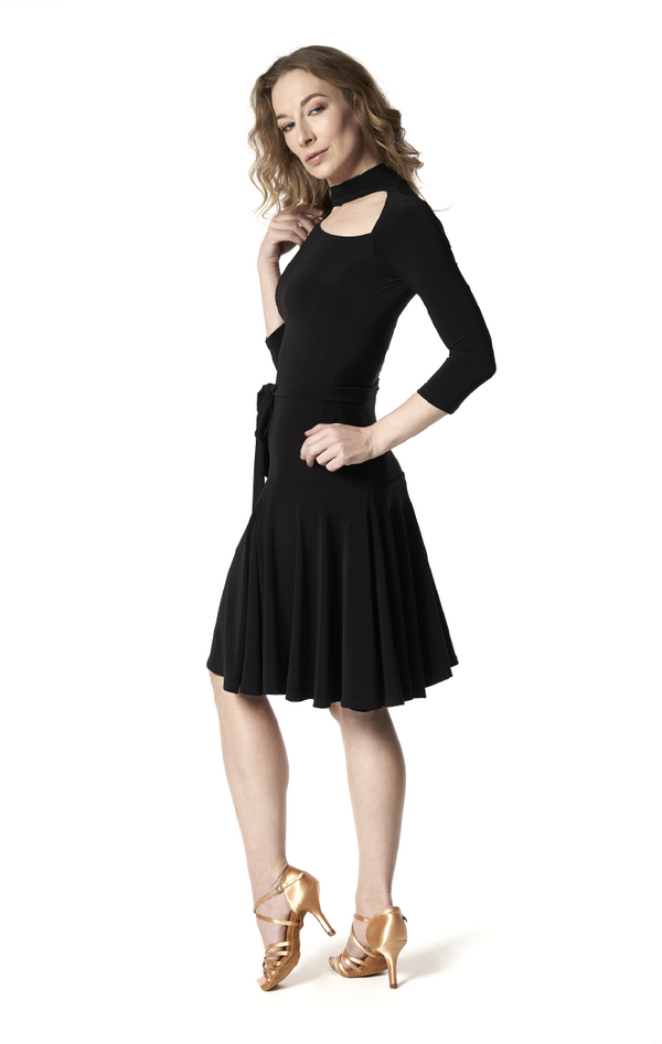 Open Loop Turtle Neck Dress