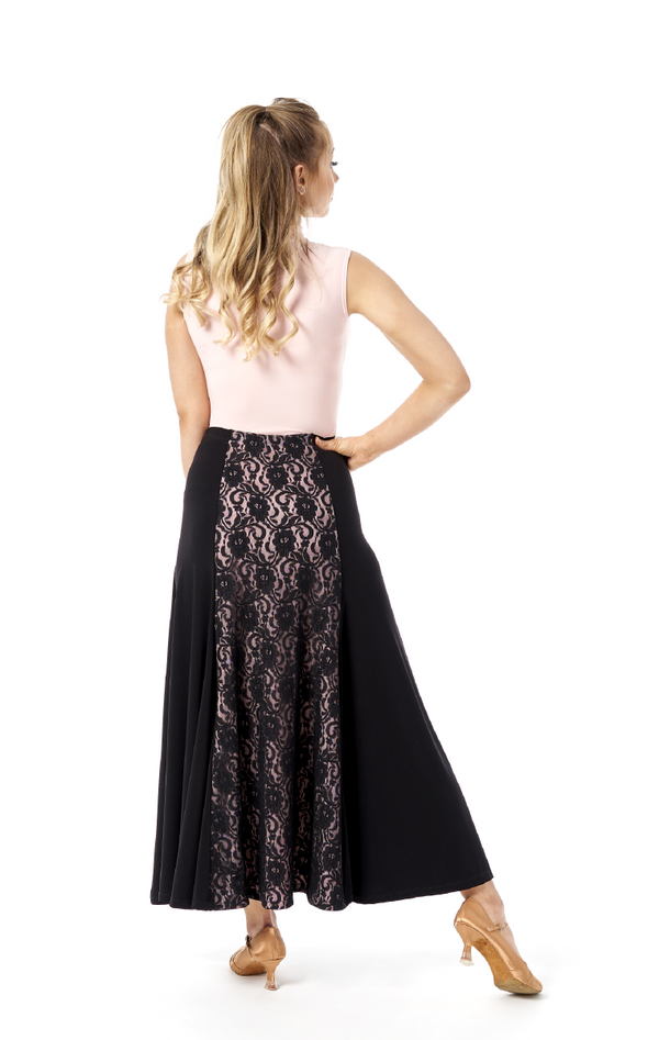 Black Lace and Blush Skirt