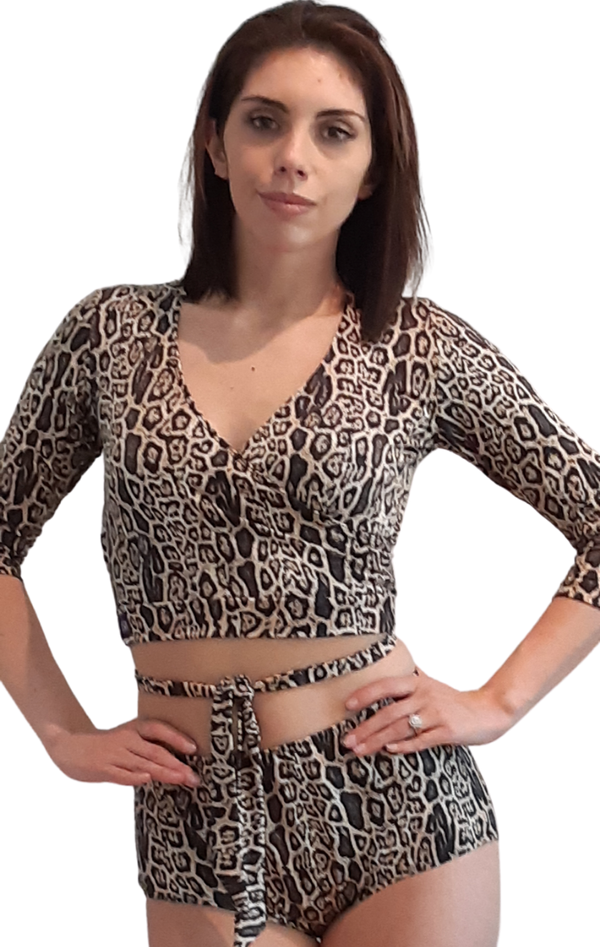 CHEETAH 2 PIECE DANCE SET