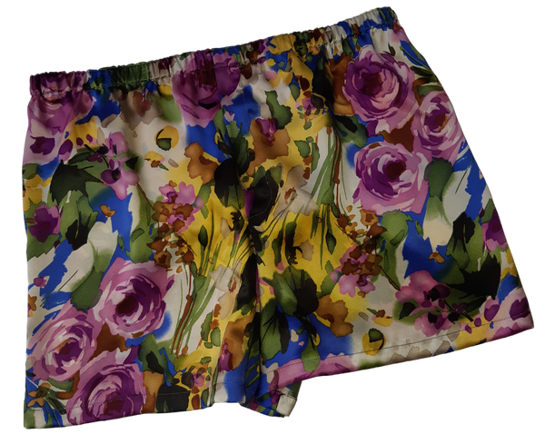 MEN'S FLORAL SILK BOXER SHORT