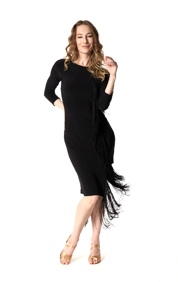 VERTICAL FRINGE DRESS