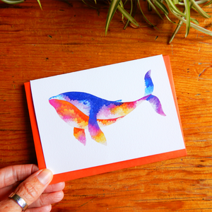 Whale greeting card
