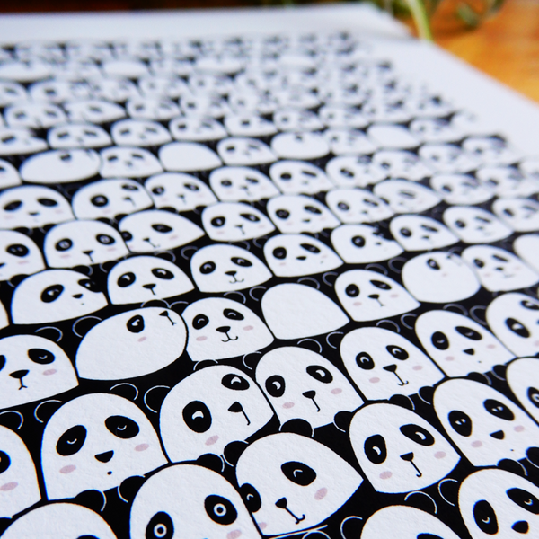 Pandas galore art print