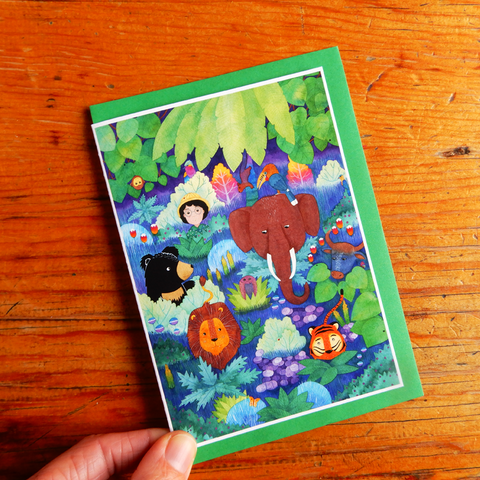 Asian Jungle Greeting Card