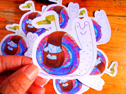 Snail Mail Die Cut sticker