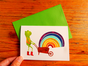 Rainbow Frog greeting card
