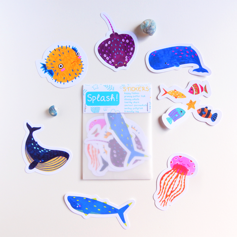 Ocean sticker set, Splash! collection