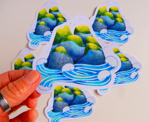 Island Die Cut Sticker