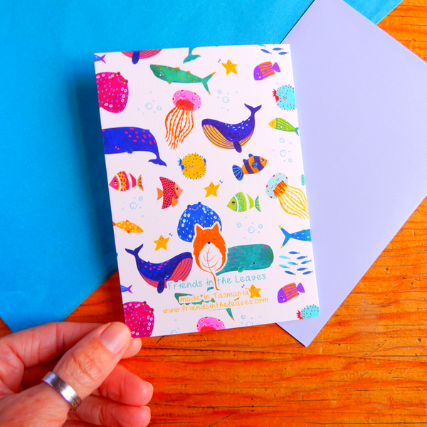 Ocean life greeting card