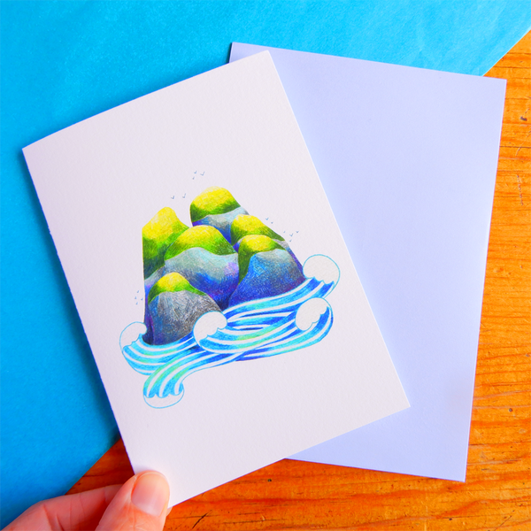 Island greeting card