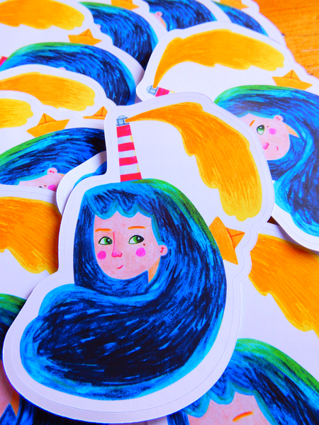 Ocean Spirit Die Cut Sticker