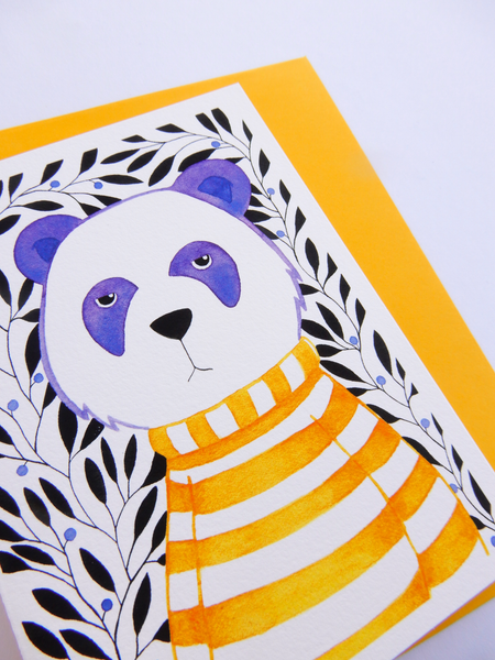 Grumpy Panda greeting card