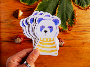 Die Cut Panda Sticker