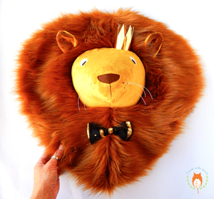 Sir Lion 3D textile portrait