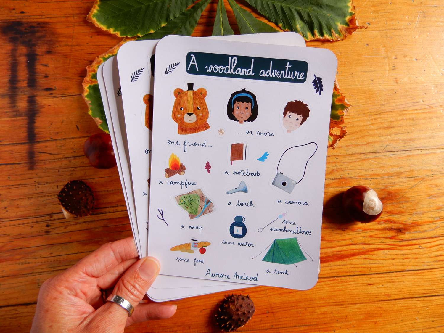 Camping adventure sticker sheet