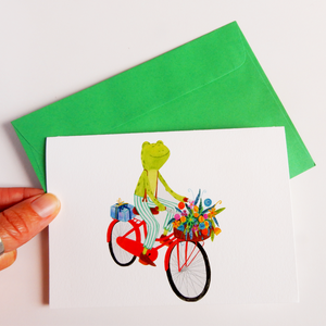 Frog greeting card