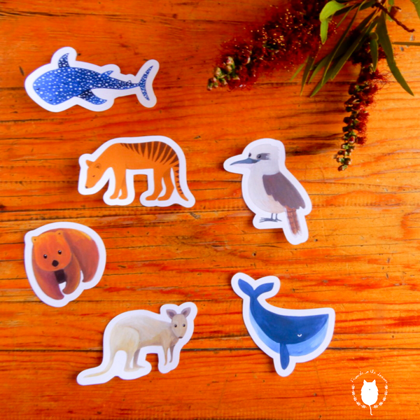 Australian animals (set 2) sticker pack