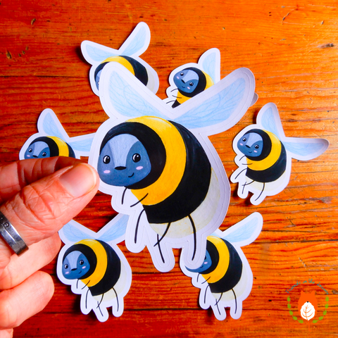 Bee Die Cut Sticker