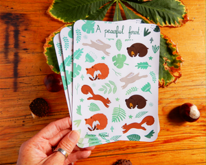 Woodland animal sticker sheet