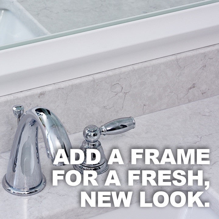 Add a Mirror Frame For a Fresh, New Look