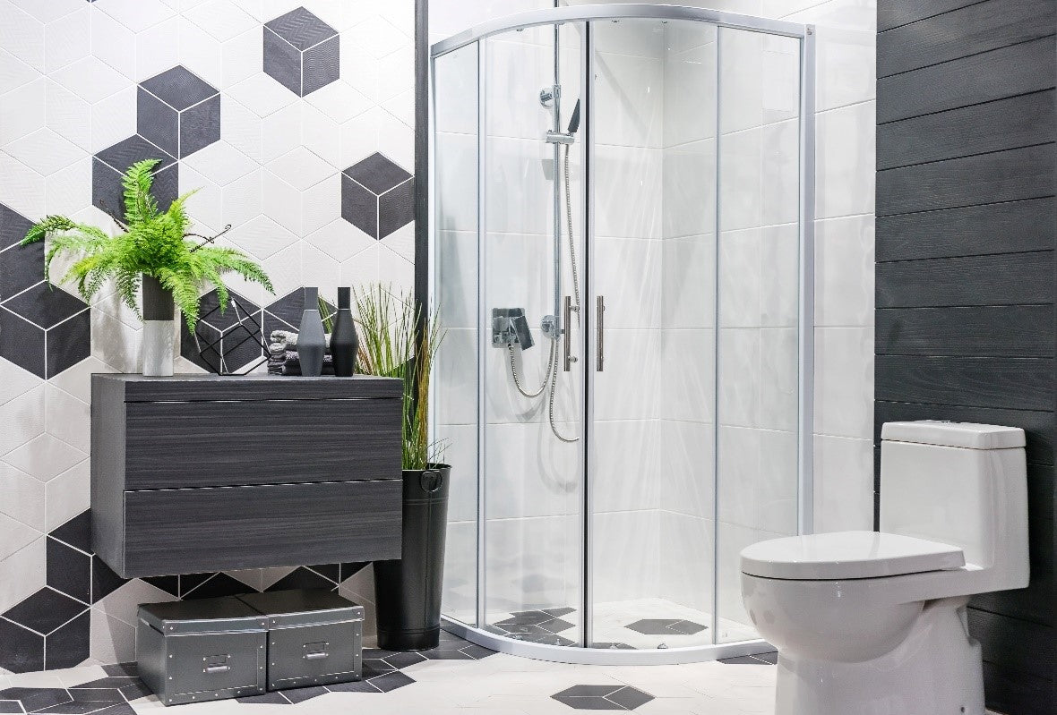 Modern Contemporary Bathroom With Stand Up Shower