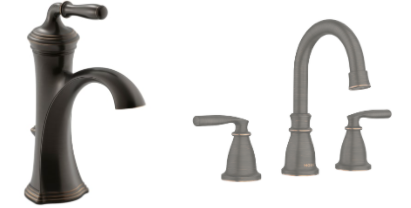 Oil Rubbed Bronze and Satin Bronze Bathroom Fixtures