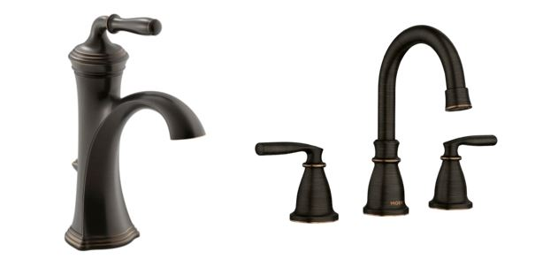 Oil Rubbed Bronze and Satin Bronze Faucet