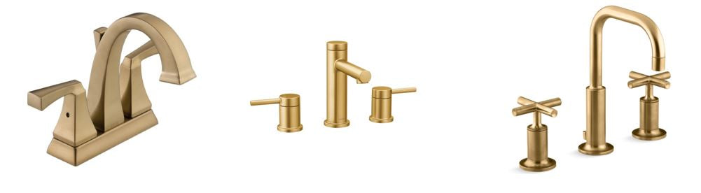 Polished Brass, Satin Brass, Champagne Bronze and Brushed Gold Faucet