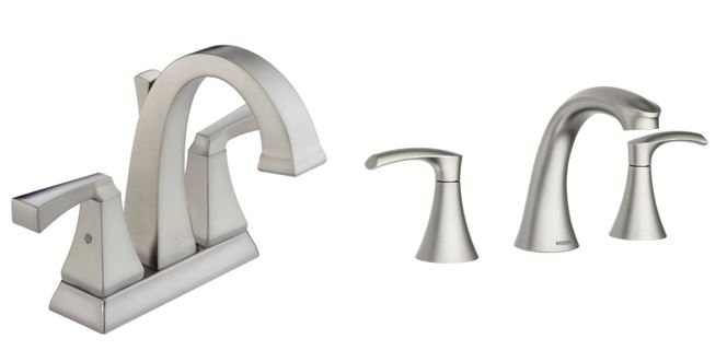 Stainless Steel and Brushed Nickel Faucet