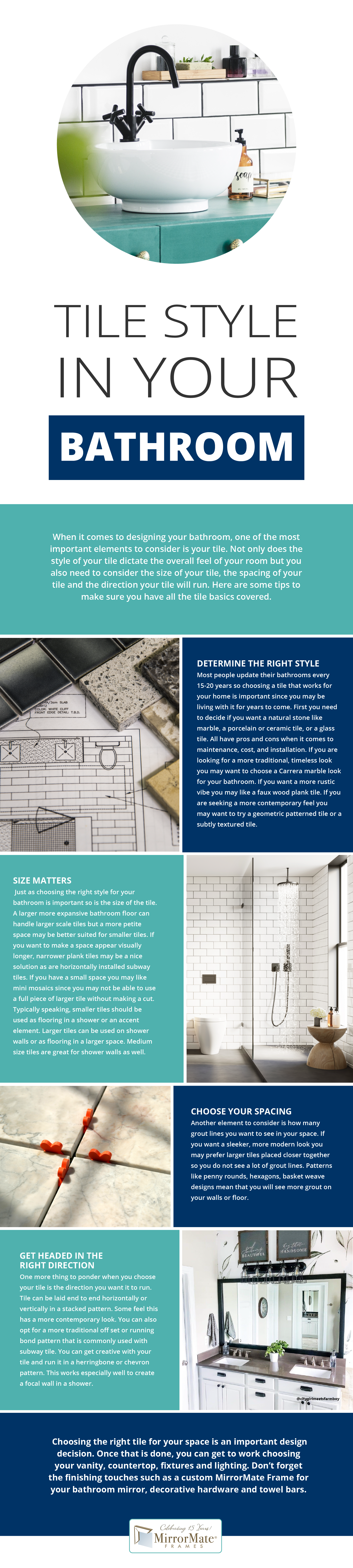 Tile Style in Your Bathroom Infographic