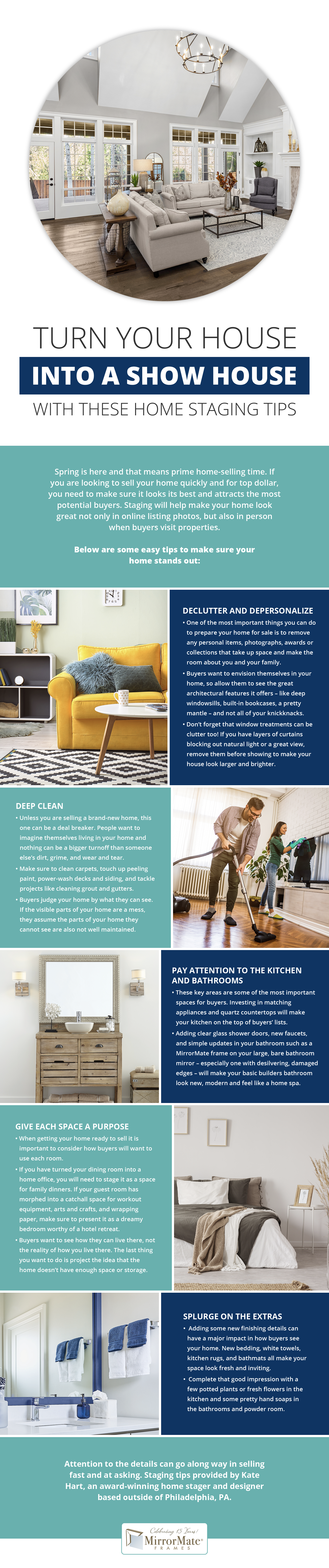 Turn Your House Into a Show House With These Home Staging Tips Infographic