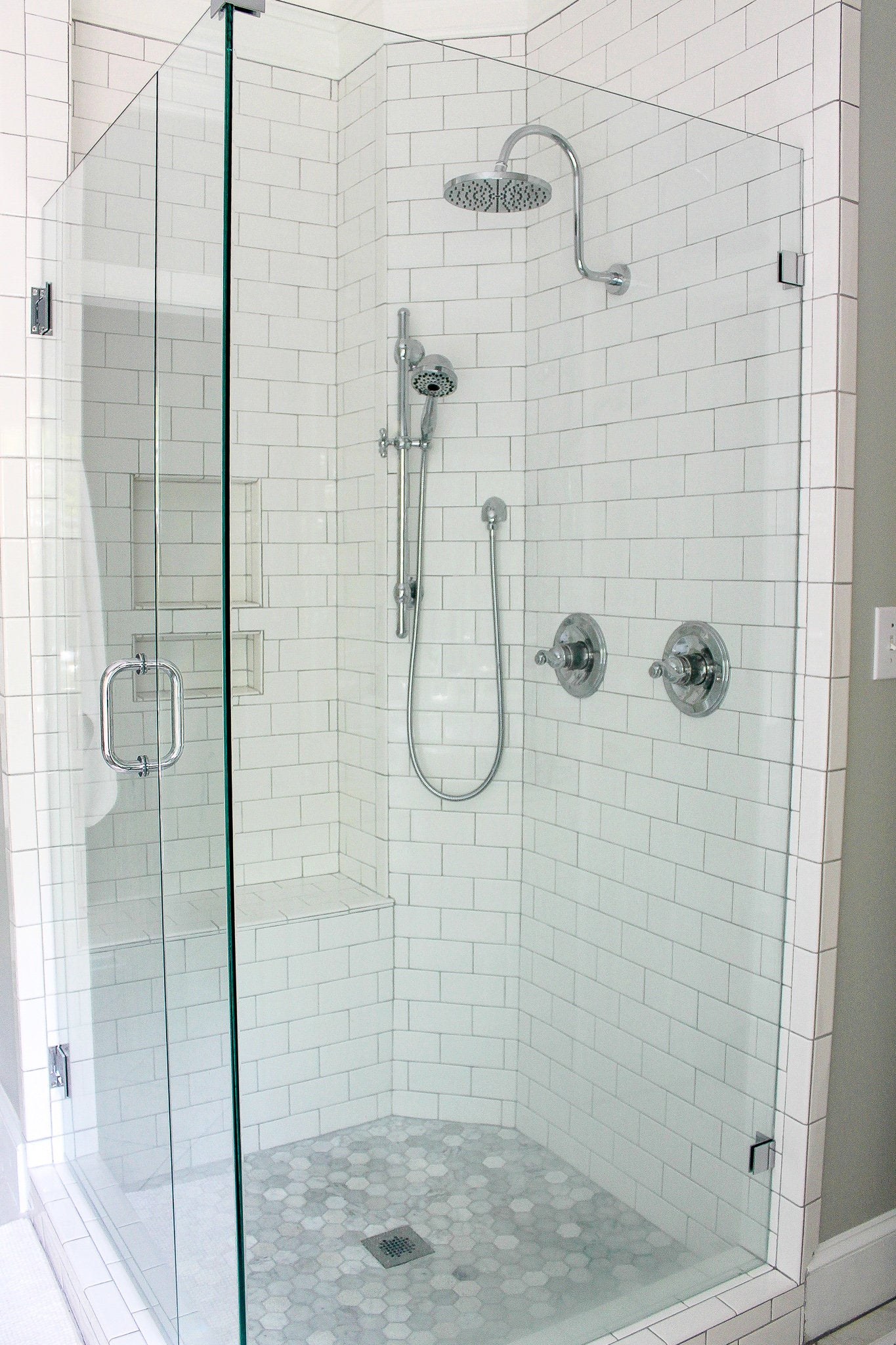 Large Clear Standup Shower