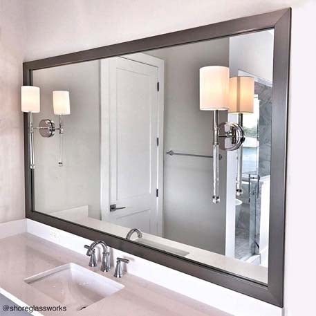 Stick On Mirror Frames For Apartment Bathrooms