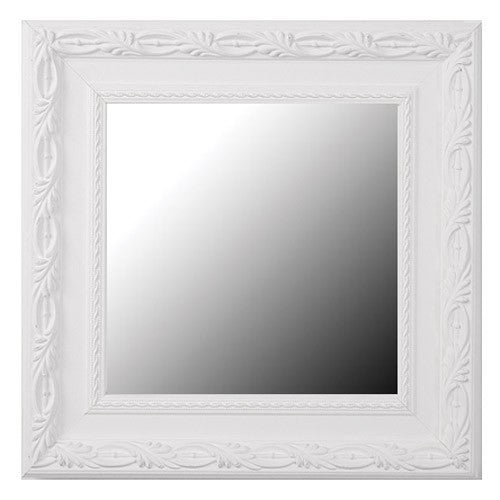 Acadia Dove White Framed Mirror