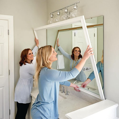 Chelsea Classic White Mirror Framing Kits
