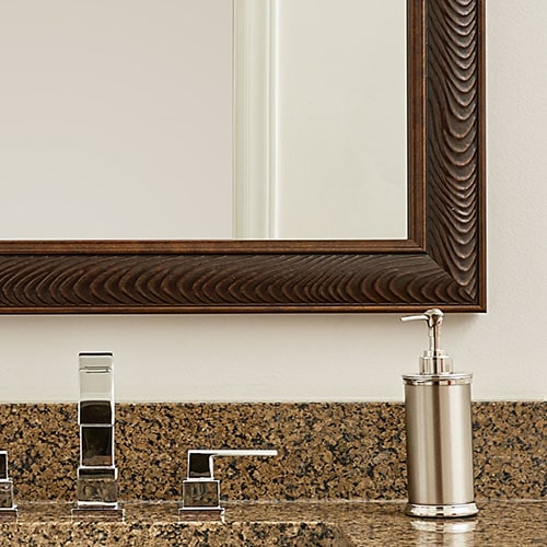 Rustic Bronze Bathroom Wall Mirror Framing