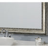 Silver Ornate Bathroom Wall Mirror Framing