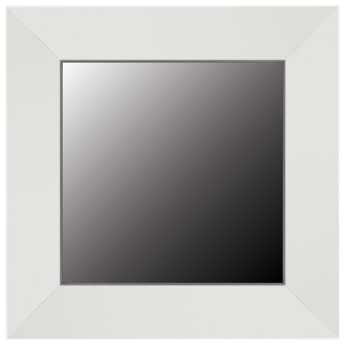 Thin Bright White Wood Framed Mirror