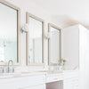 Highline Slim Silver Patina DIY Bathroom Mirror Frame Kits