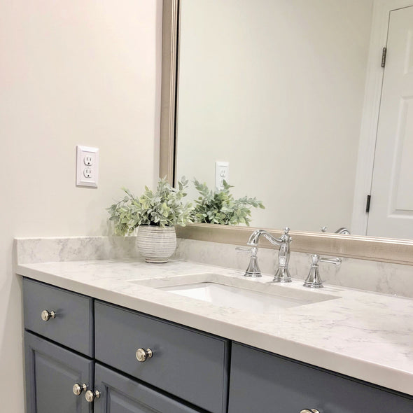 Silver Frame For Bathroom Mirrors
