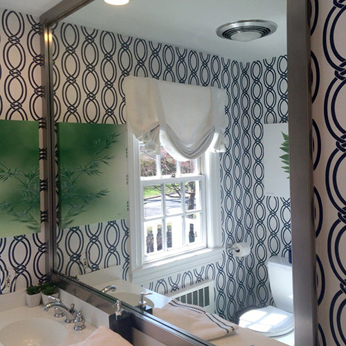 Broadway Slim Brushed Chrome DIY Frames For Bathroom Wall Mirrors