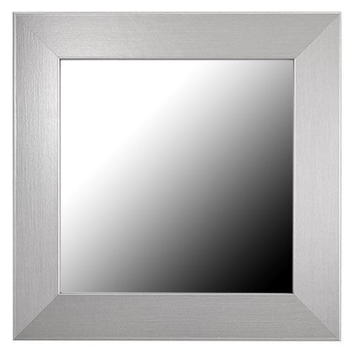 Broadway Slim Brushed Chrome Framed Mirror