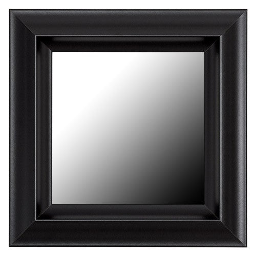 Chelsea Black Satin Framed Mirror