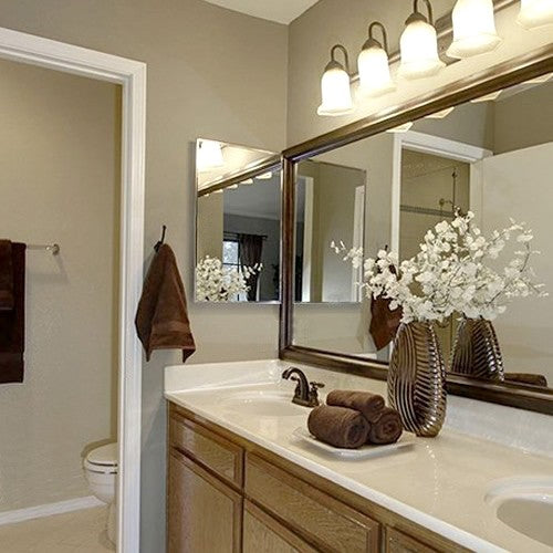 Chelsea Brushed Bronze Bathroom Wall Mirror Framing