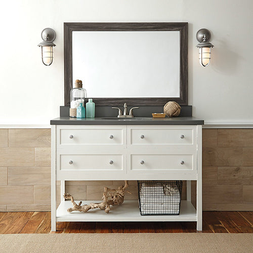 Driftwood Bathroom Wall Mirror Framing