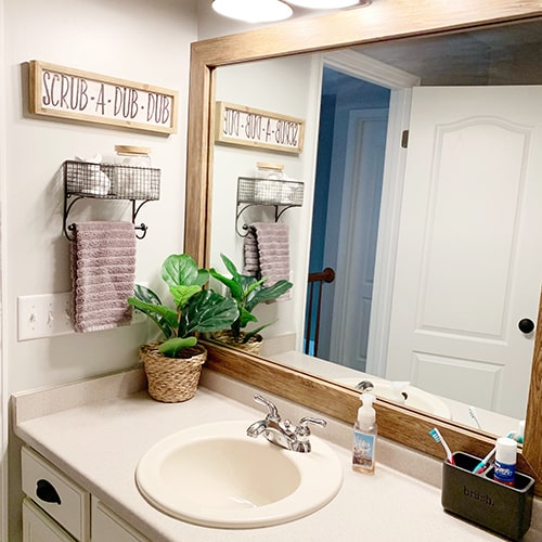 Cherokee Barnwood Custom Framed Mirror Trim