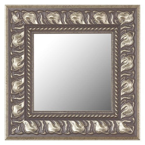 Decorative Naples Antique Silver Framed Mirror