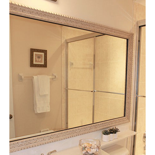 Weathered White DIY Mirror Frame Kits