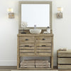Weathered White Vanity Mirror Frame