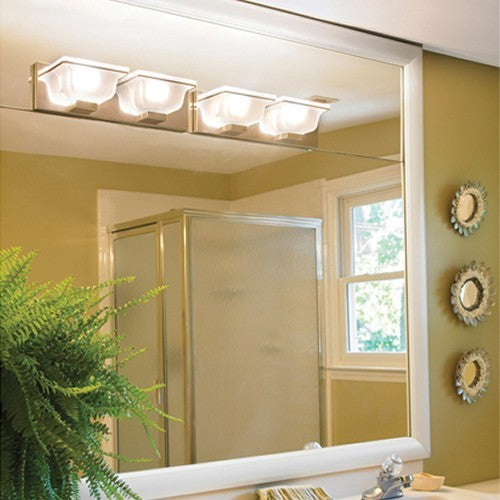Porcelain White Bathroom Wall Mirror Framing